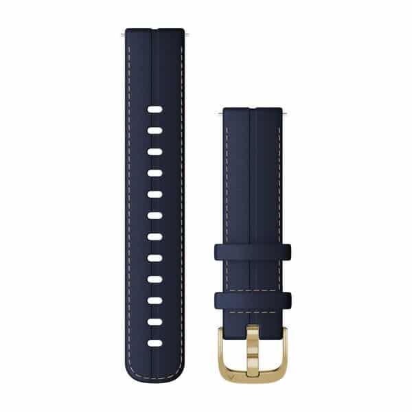 Quick Release 18mm Leather Navy